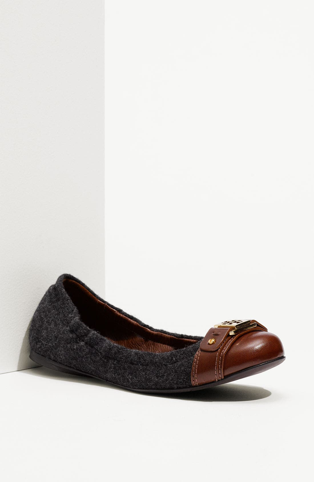 Main Image - Tory Burch 'Ambrose' Cap Toe Flannel Flat (Nordstrom Exclusive)