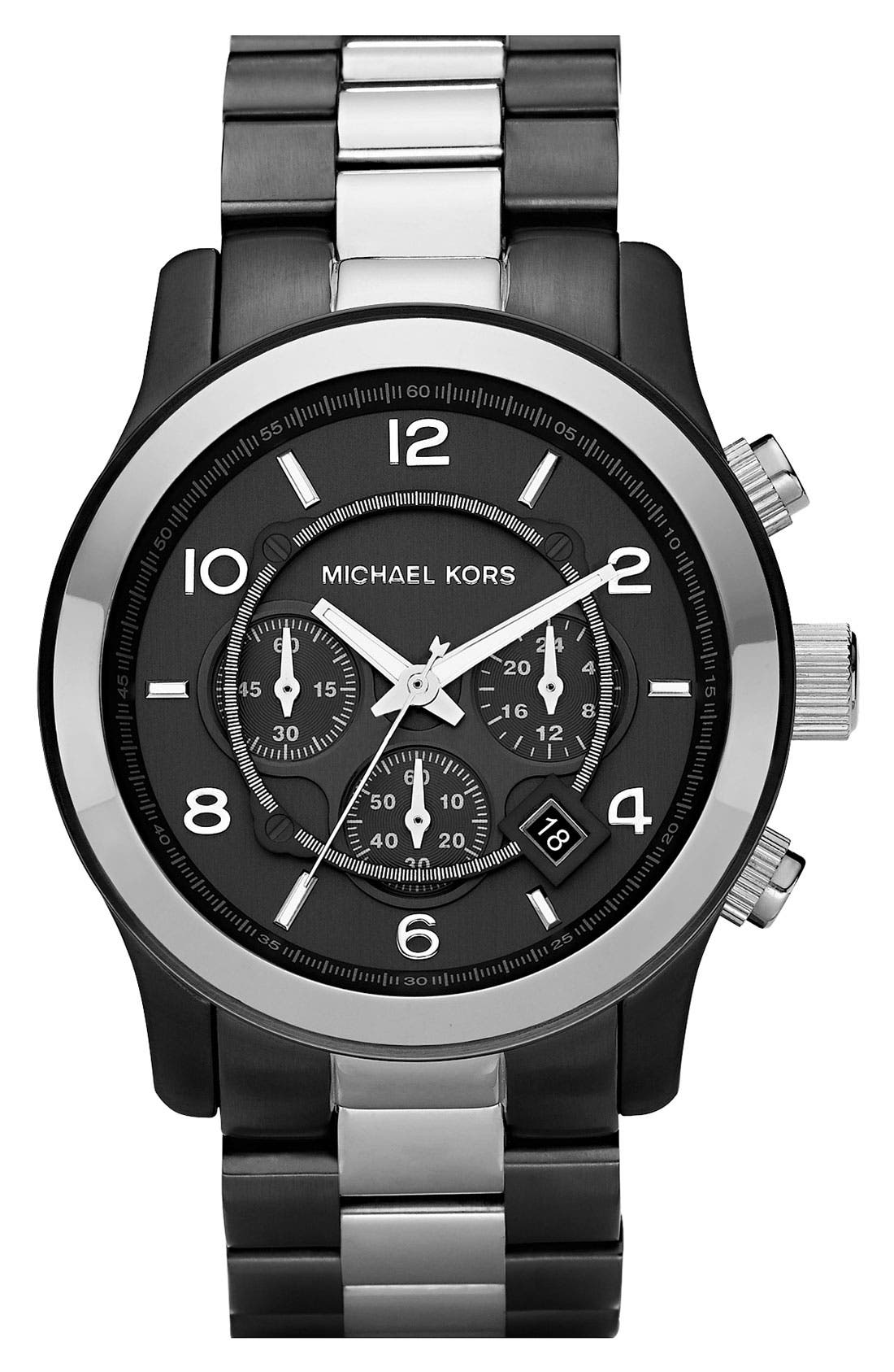 Alternate Image 1 Selected - Michael Kors 'Large Runway' Two Tone Chronograph Watch, 45mm