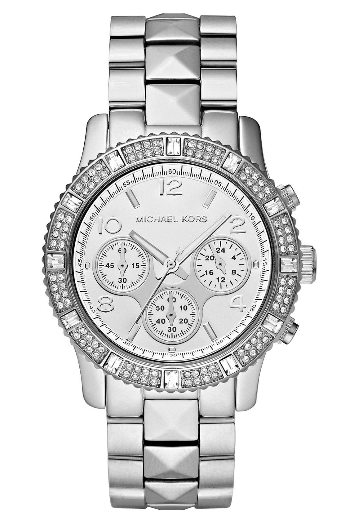 Alternate Image 1 Selected - Michael Kors Pyramid Chronograph Bracelet Watch