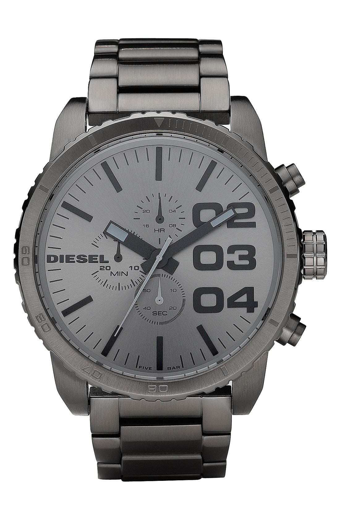 Alternate Image 1 Selected - DIESEL® 'Double Down' Large Chronograph Bracelet Watch, 51mm