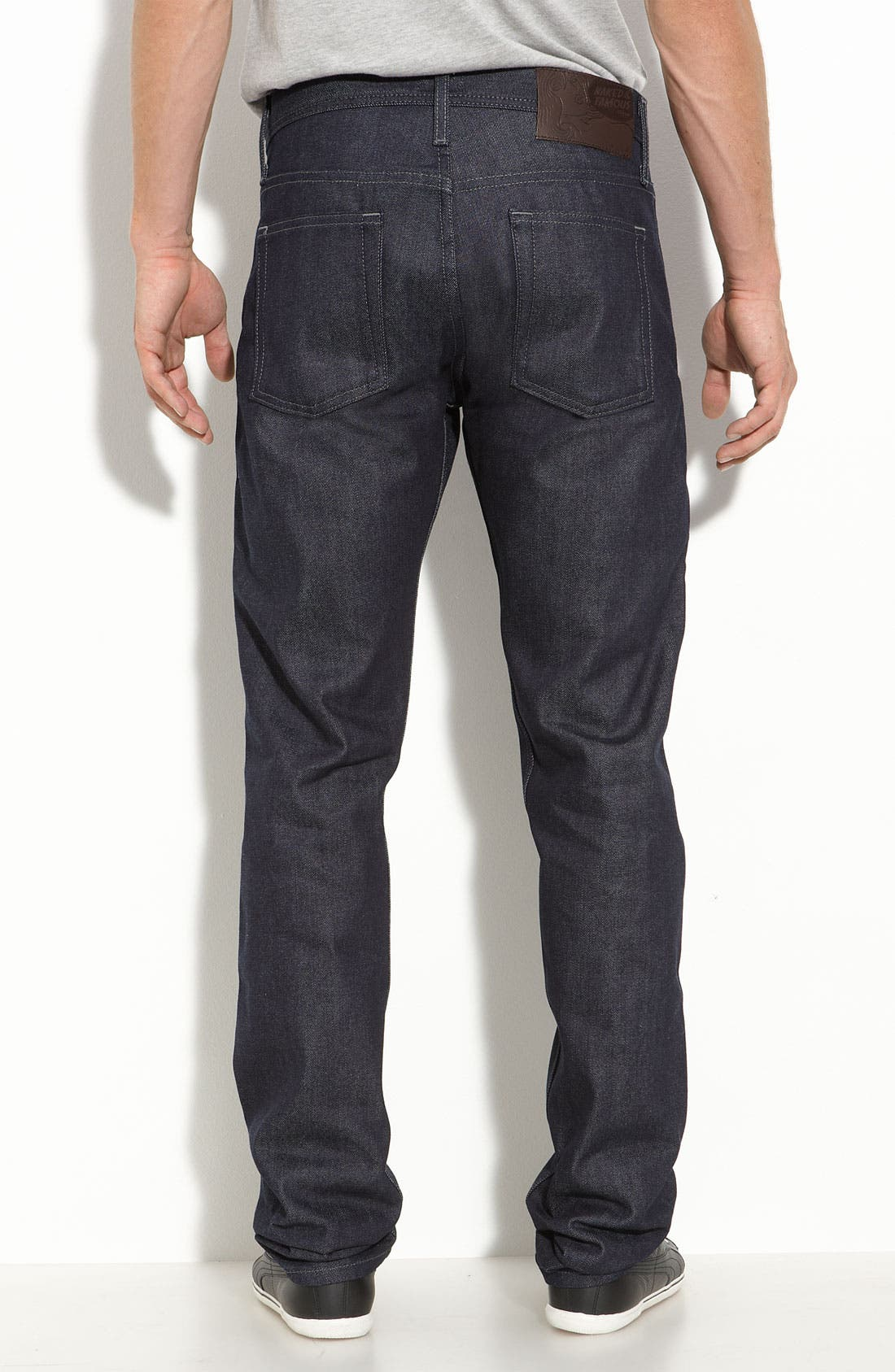 Alternate Image 2  - Naked & Famous Denim 'Weird Guy' Slim Fit Selvedge Jeans (Indigo)