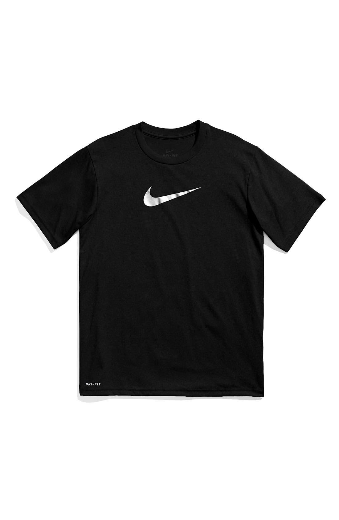 Alternate Image 1 Selected - Nike Dri-FIT Crewneck T-Shirt (Big Boys)