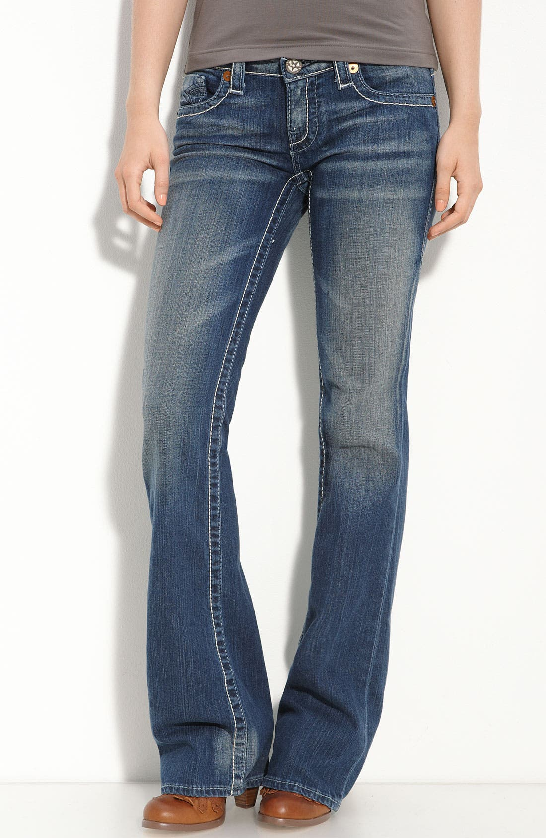 Alternate Image 2  - Big Star 'Liv' Boot-Cut Jeans (Dark Wash) (Juniors)