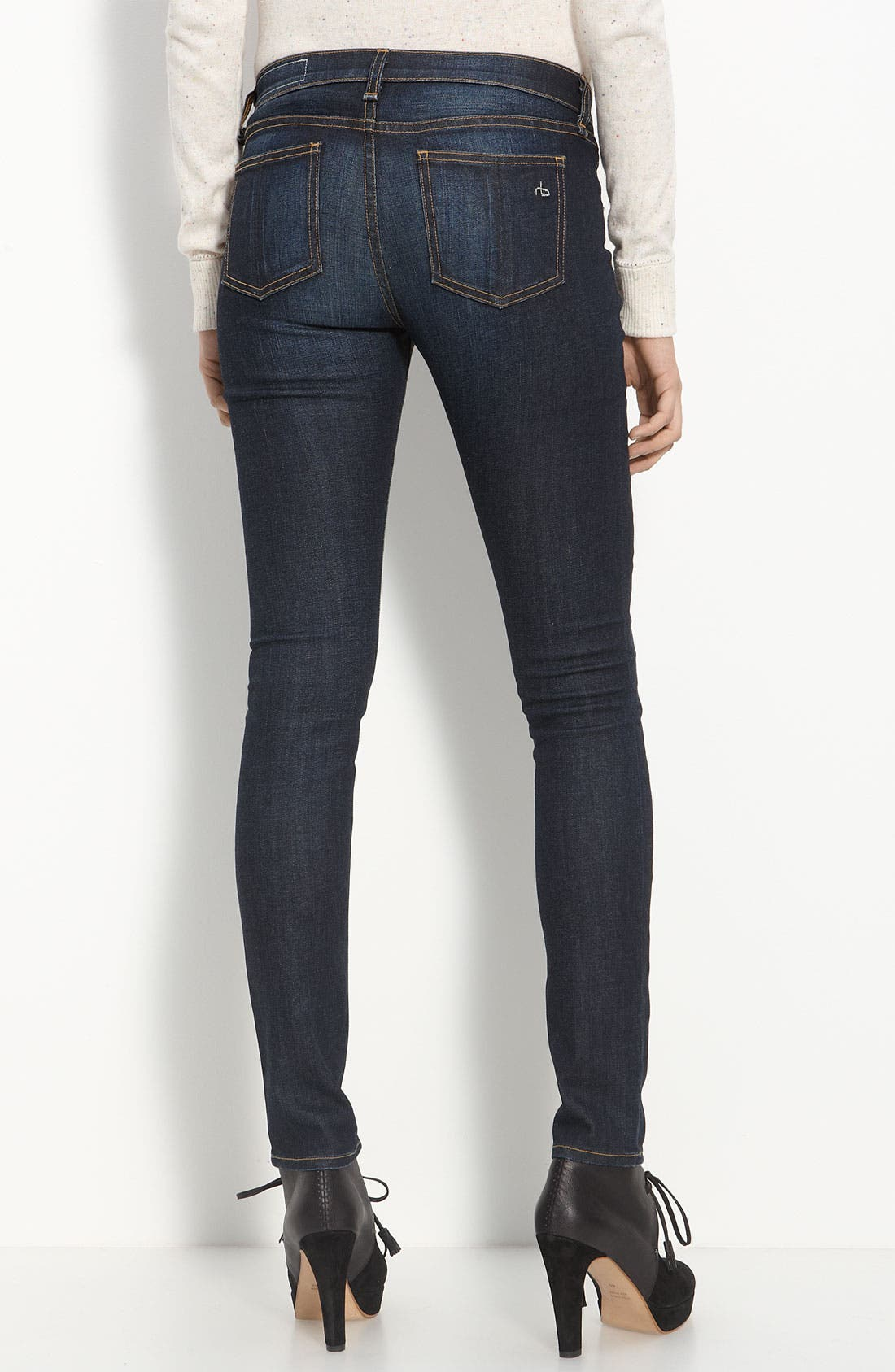Alternate Image 2  - rag & bone/JEAN Skinny Stretch Jeans (Kensington)