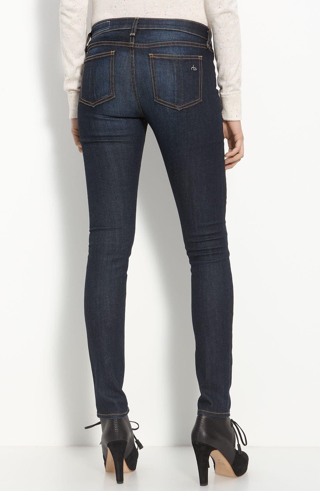 Alternate Image 2  - rag & bone/JEAN Skinny Stretch Jeans (Kensington)
