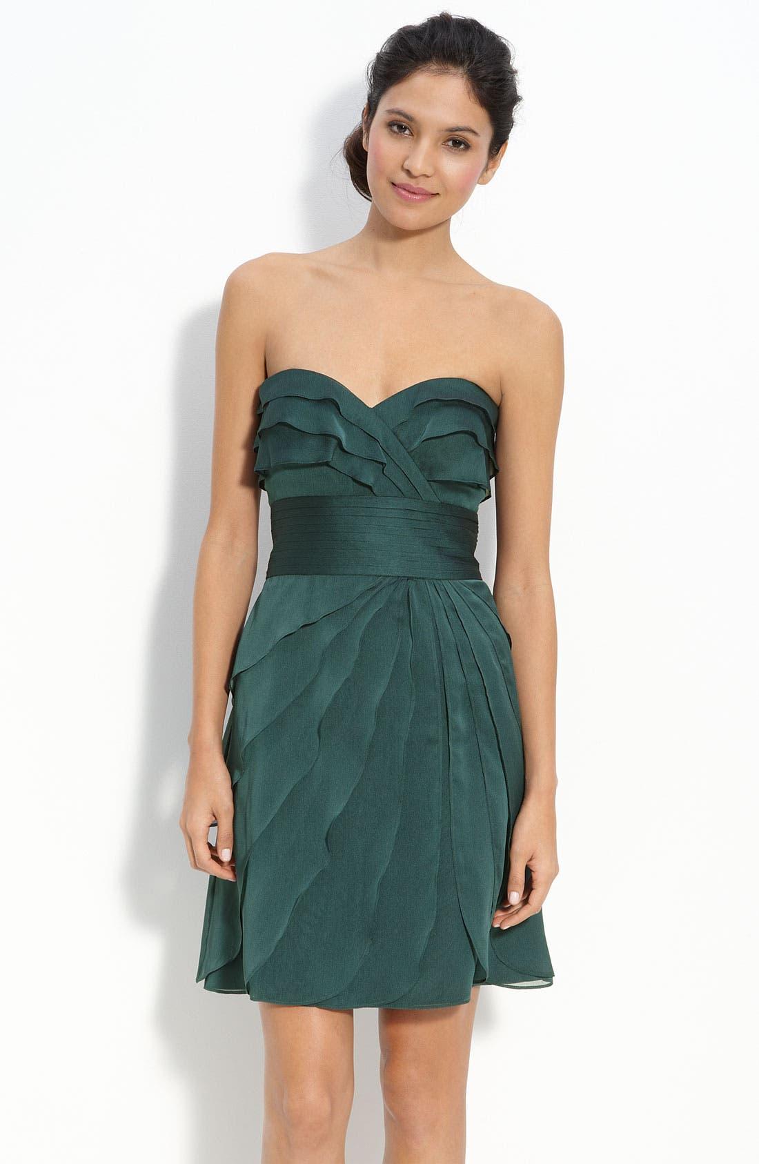 Alternate Image 1 Selected - Adrianna Papell Tiered Iridescent Chiffon Dress