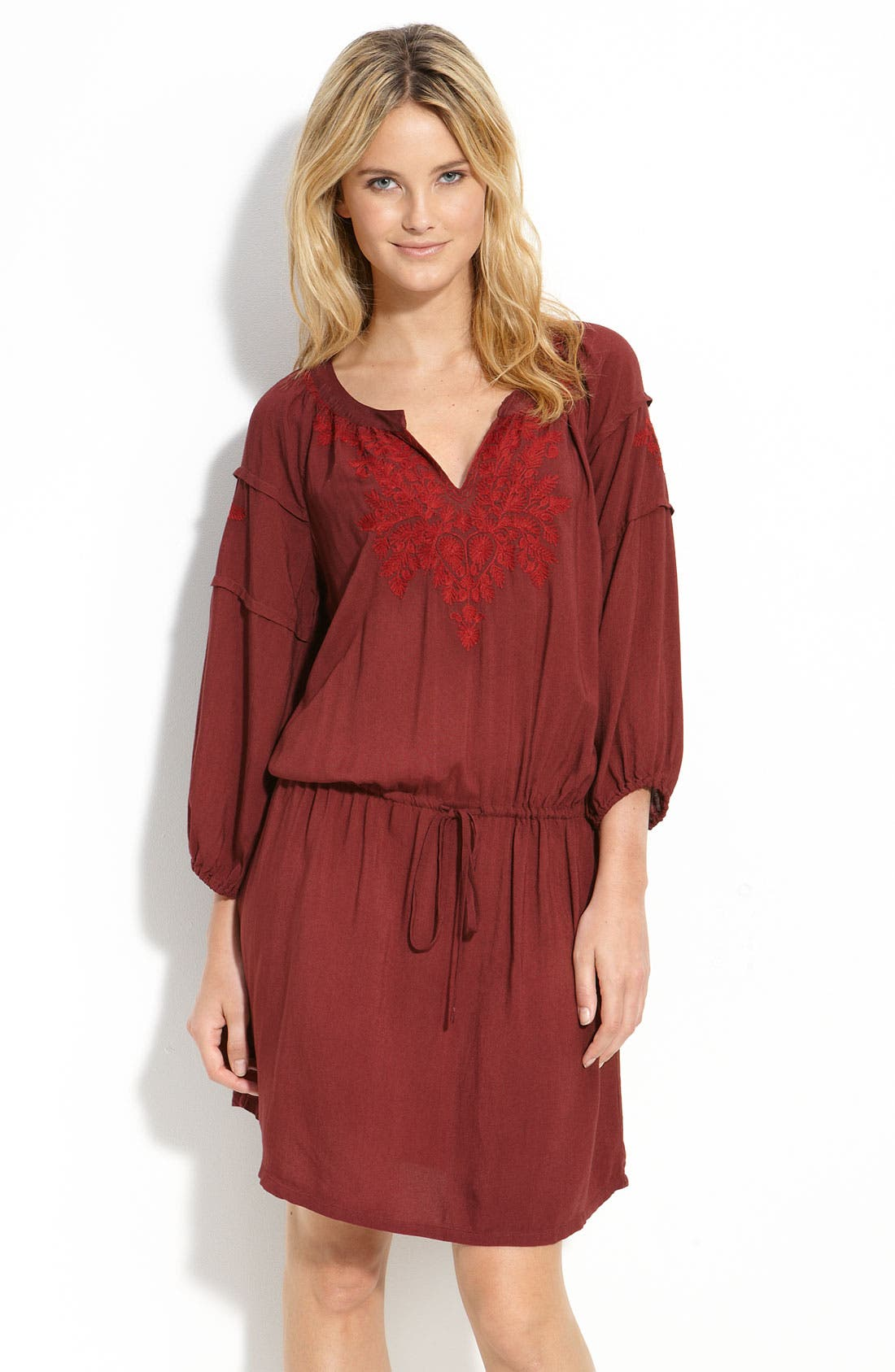 Main Image - Lucky Brand 'Lazlo' Embroidered Dress