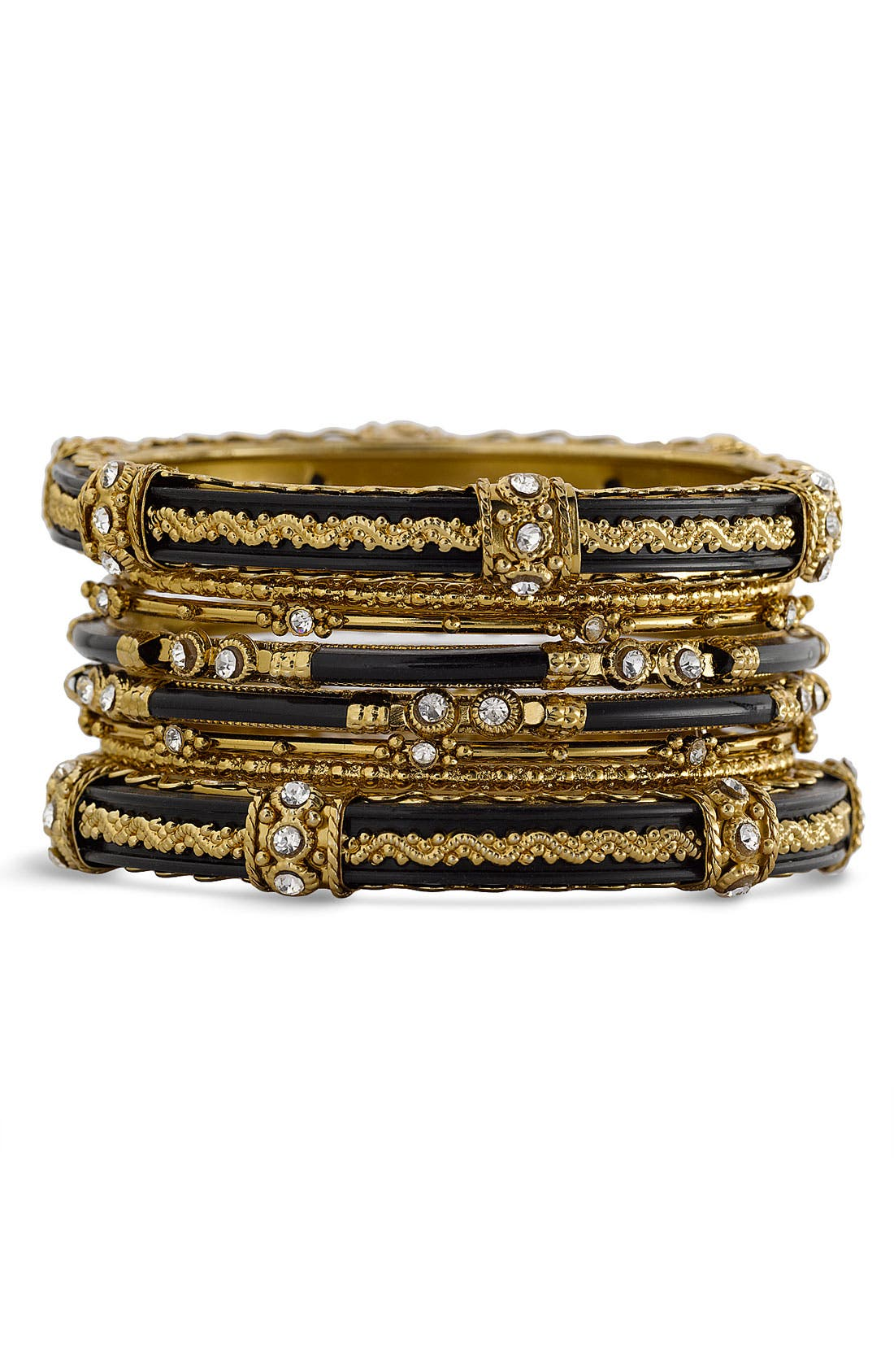 Alternate Image 1 Selected - Spring Street 'India' Bangles (Set of 8)