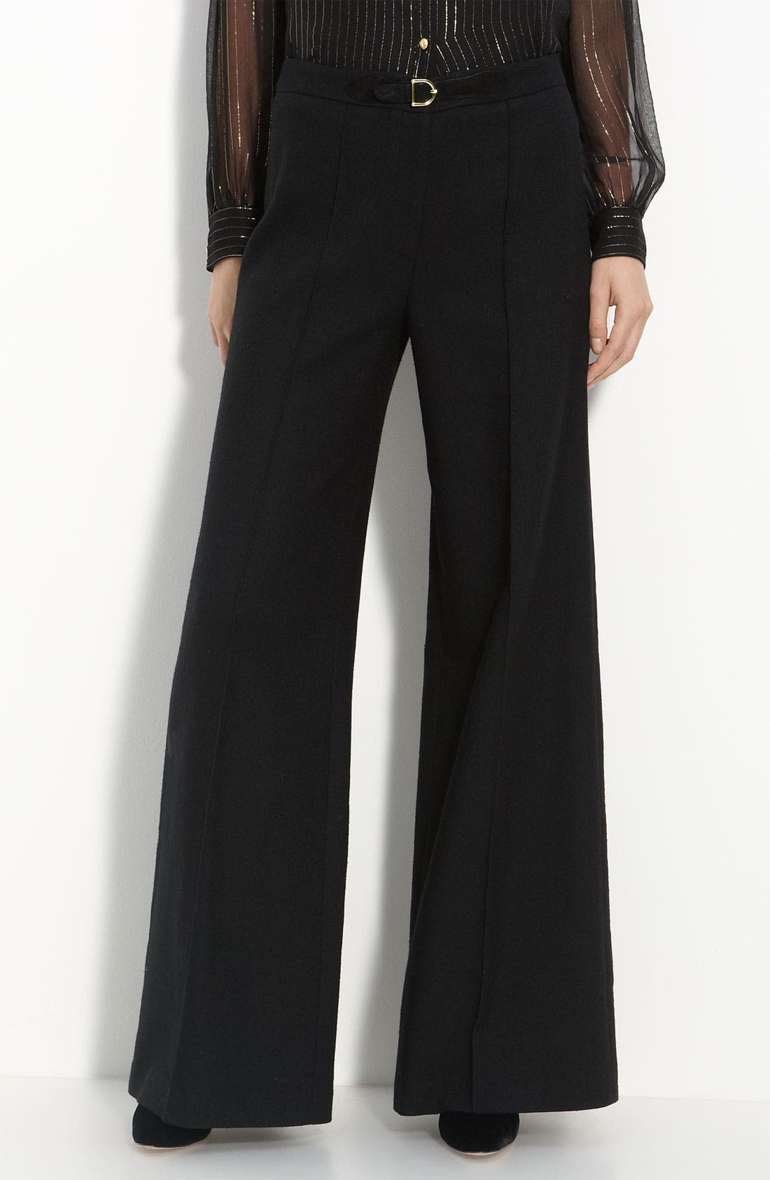Alternate Image 1 Selected - Milly 'Trish' Suede Tab Trim Trousers