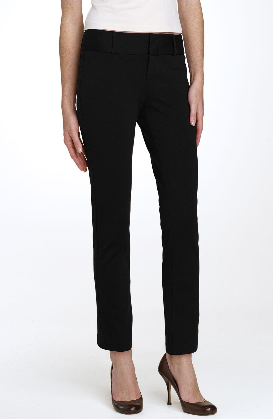 Alternate Image 1 Selected - MICHAEL Michael Kors Straight Leg Ponte Knit Pants (Regular & Petite)