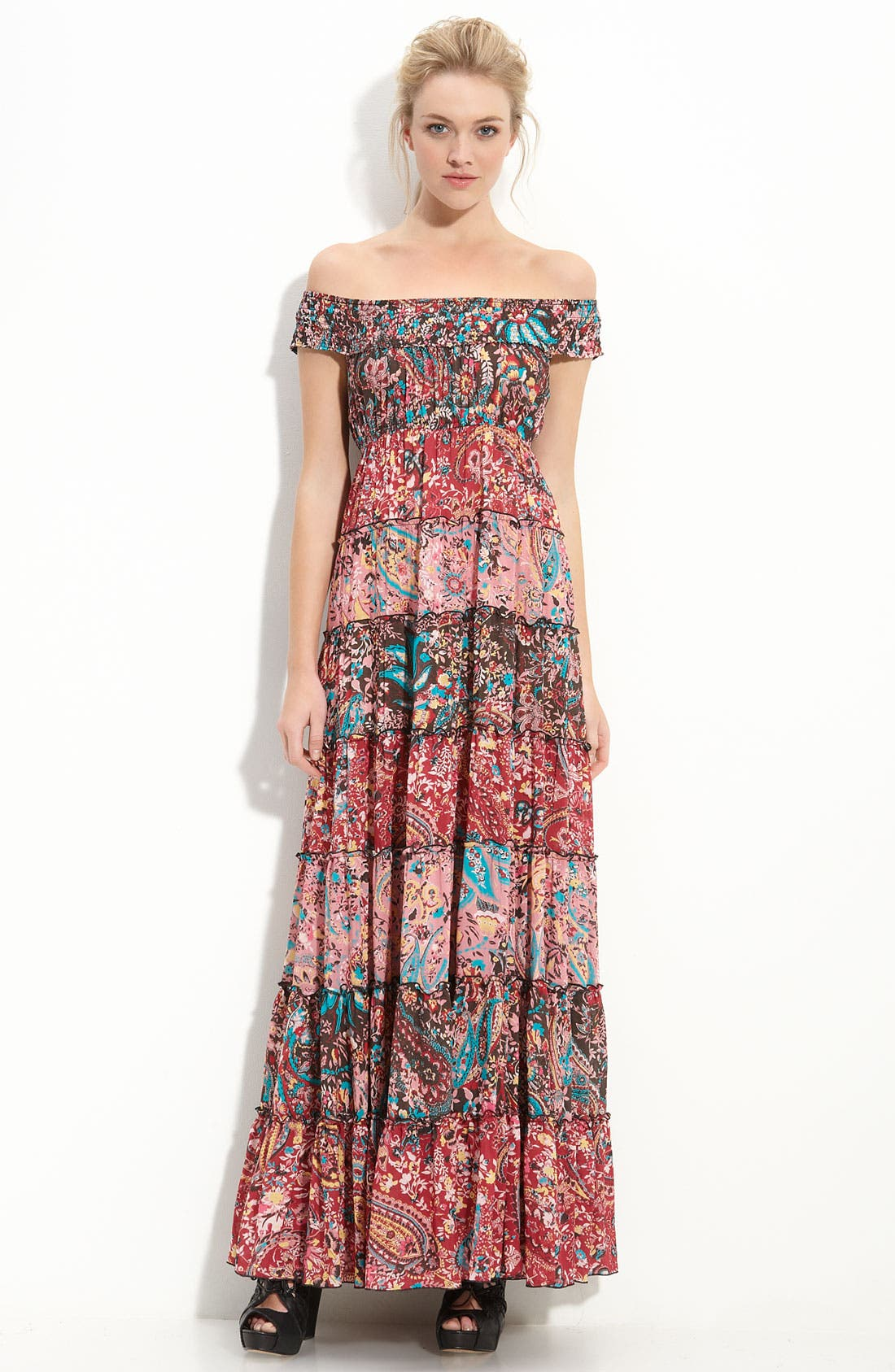 Main Image - Free People Floral Cascade Maxi Dress