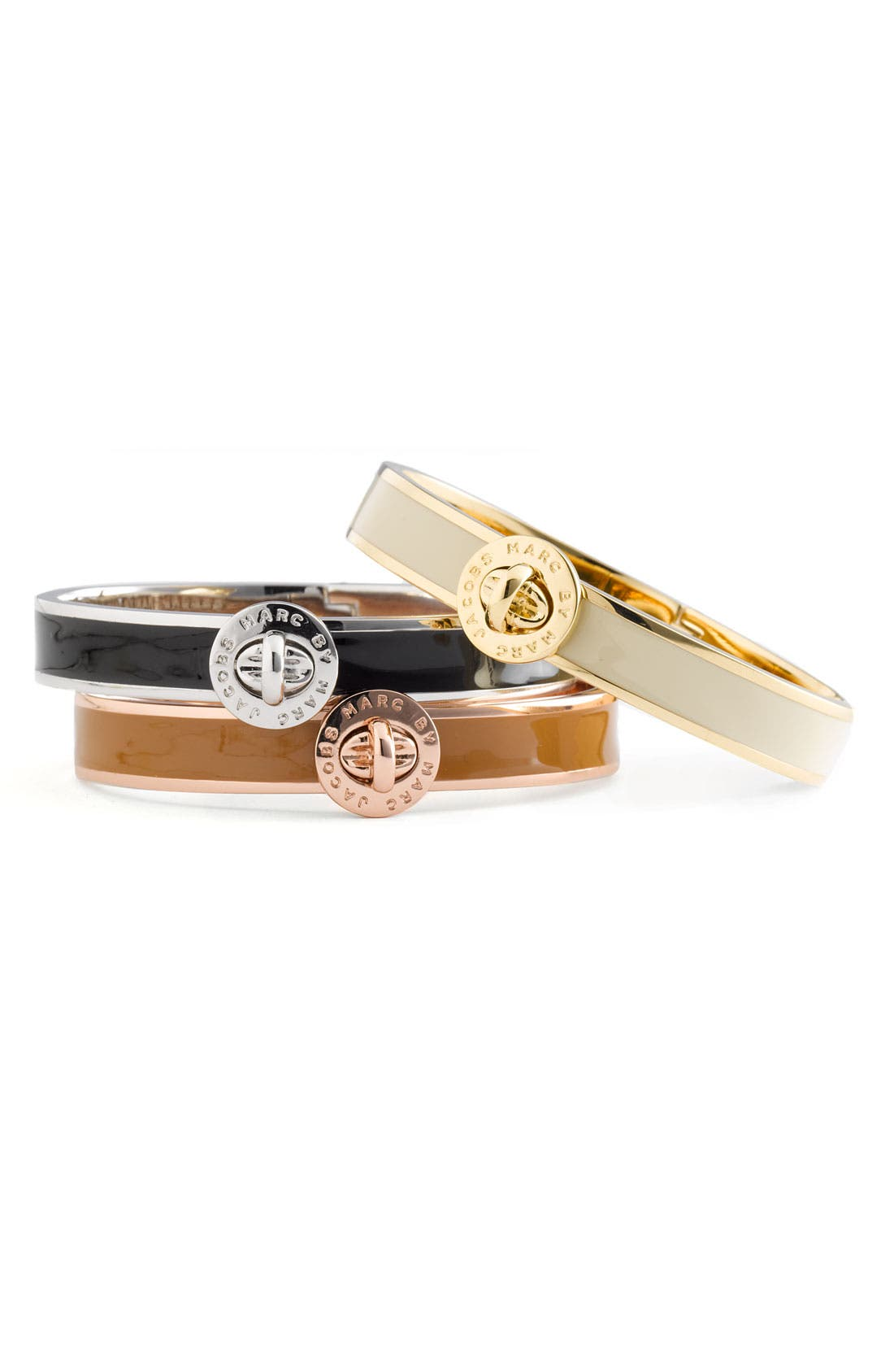 Alternate Image 1 Selected - MARC BY MARC JACOBS 'Turnlock' Hinged Bangle