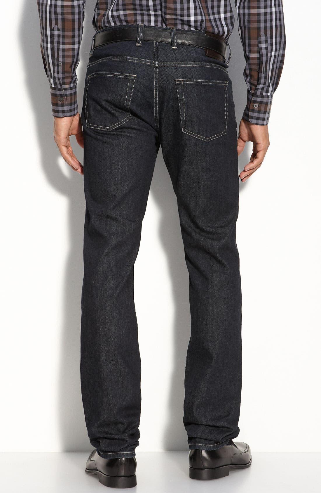 Alternate Image 2  - Canali Straight Leg Jeans (Blue)