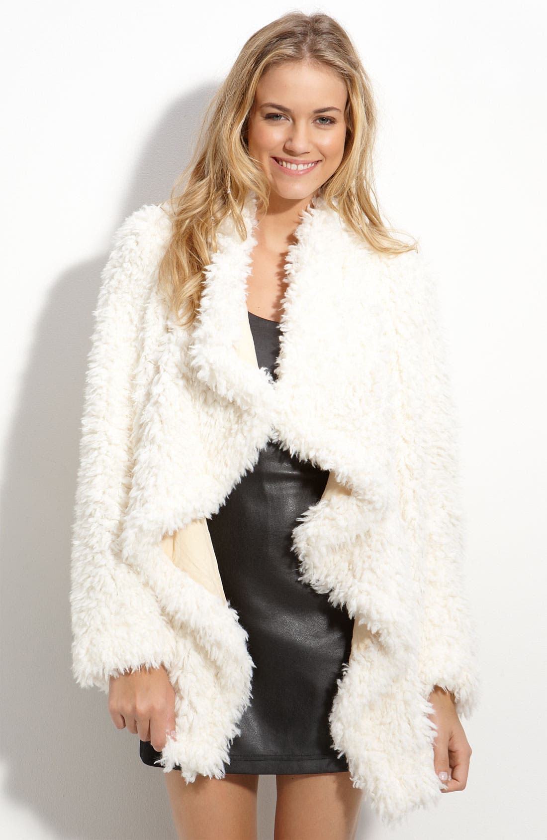 Alternate Image 1 Selected - Free People Cascading Bouclé Coat