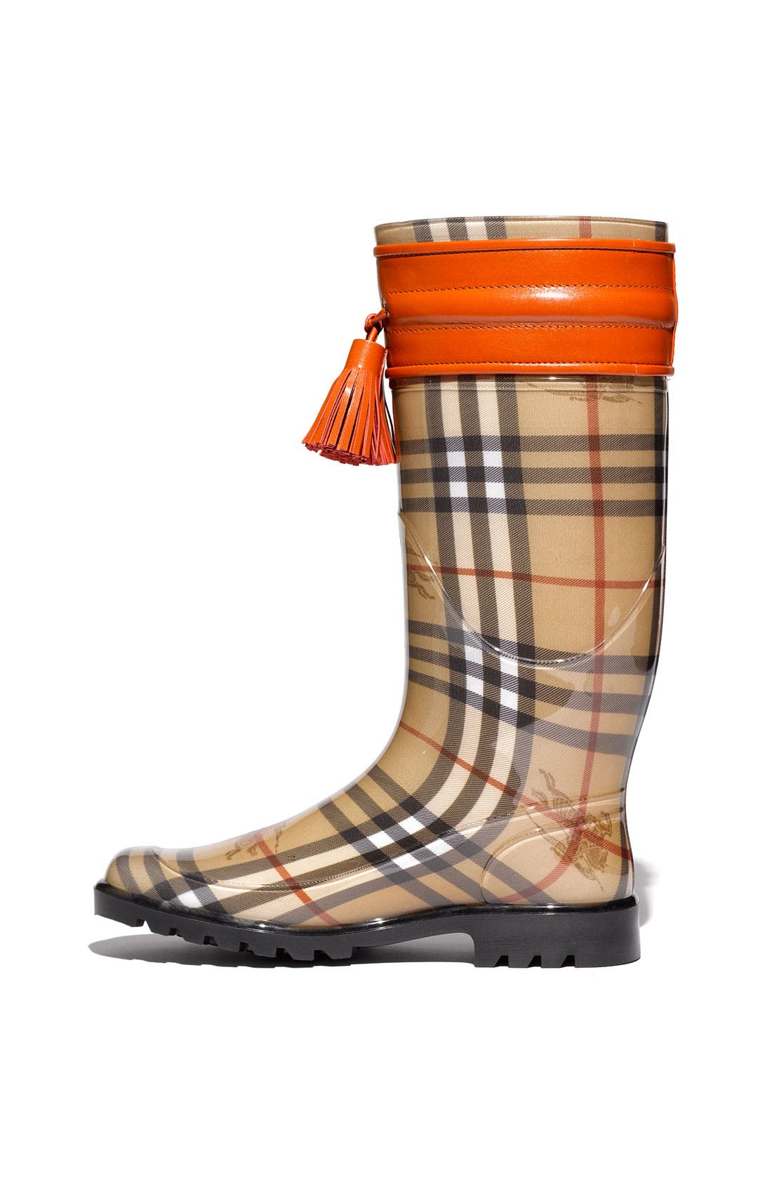 Alternate Image 2  - Burberry Leather Trim Rain Boot