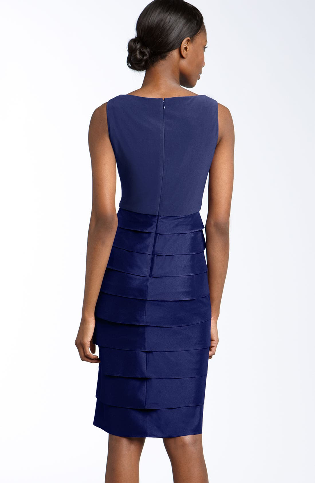 Alternate Image 2  - Adrianna Papell Jersey & Taffeta Sheath Dress