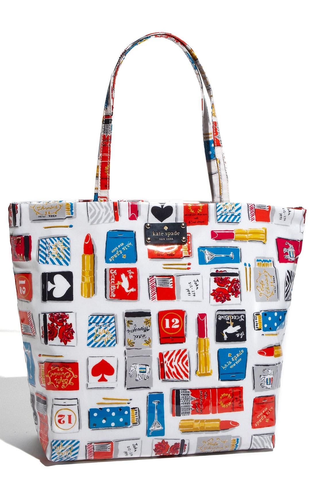 Main Image - kate spade new york 'daycation matchbook' coated canvas bon shopper
