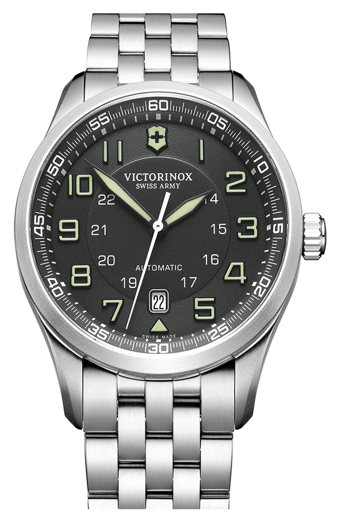 Alternate Image 1 Selected - Victorinox Swiss Army® 'Airboss' Automatic Bracelet Watch