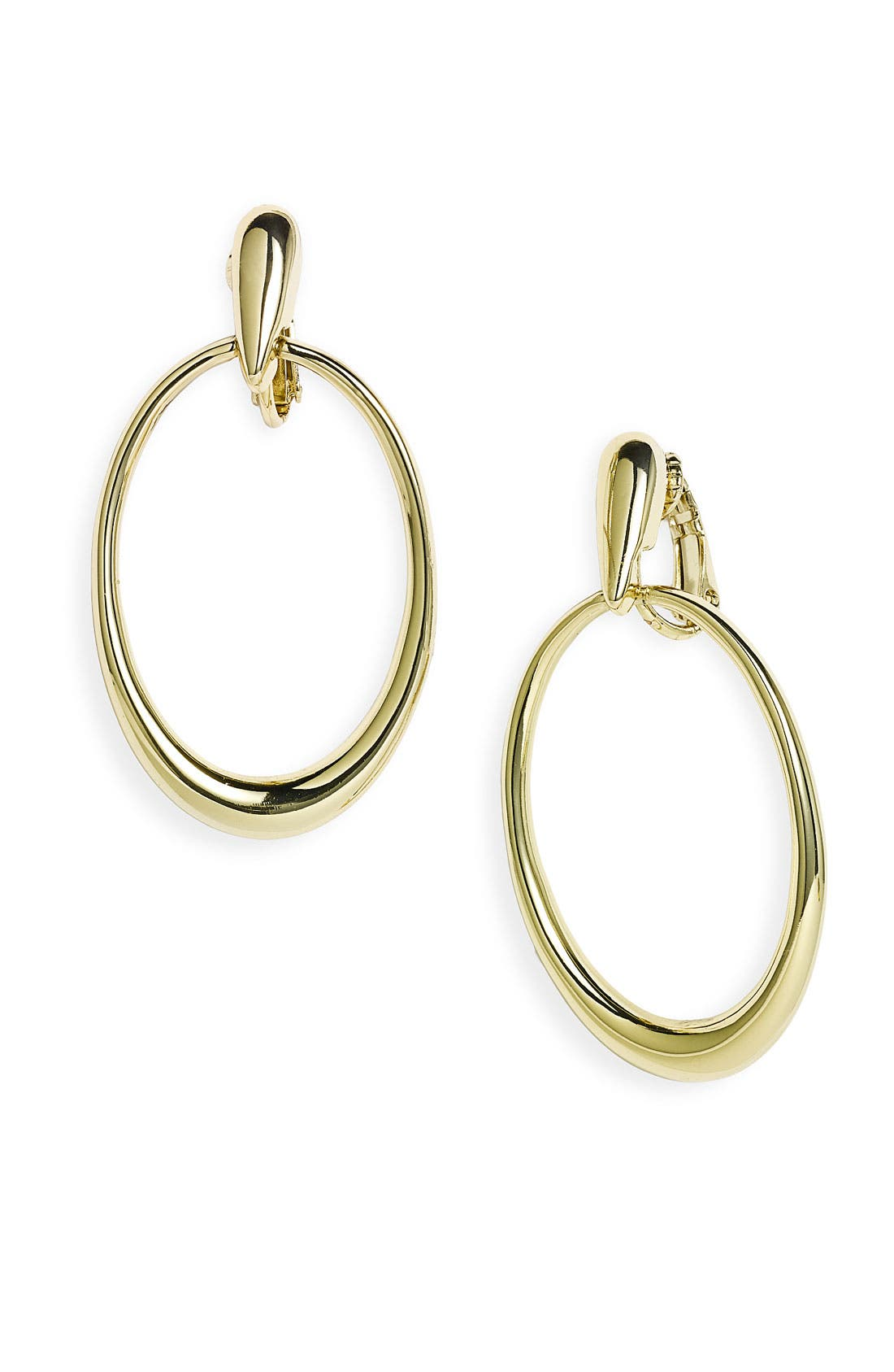 Main Image - Nordstrom Oval Hoop Clip Earrings