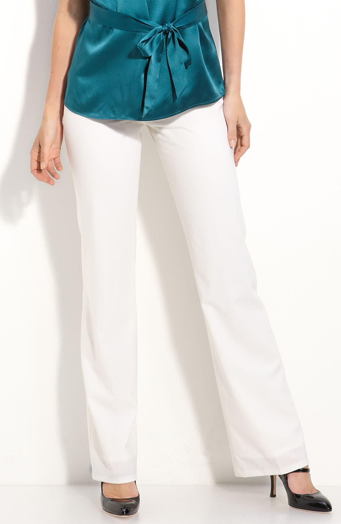 Alternate Image 1 Selected - Nordstrom Collection Cashmere Sweater and Lafayette Trousers