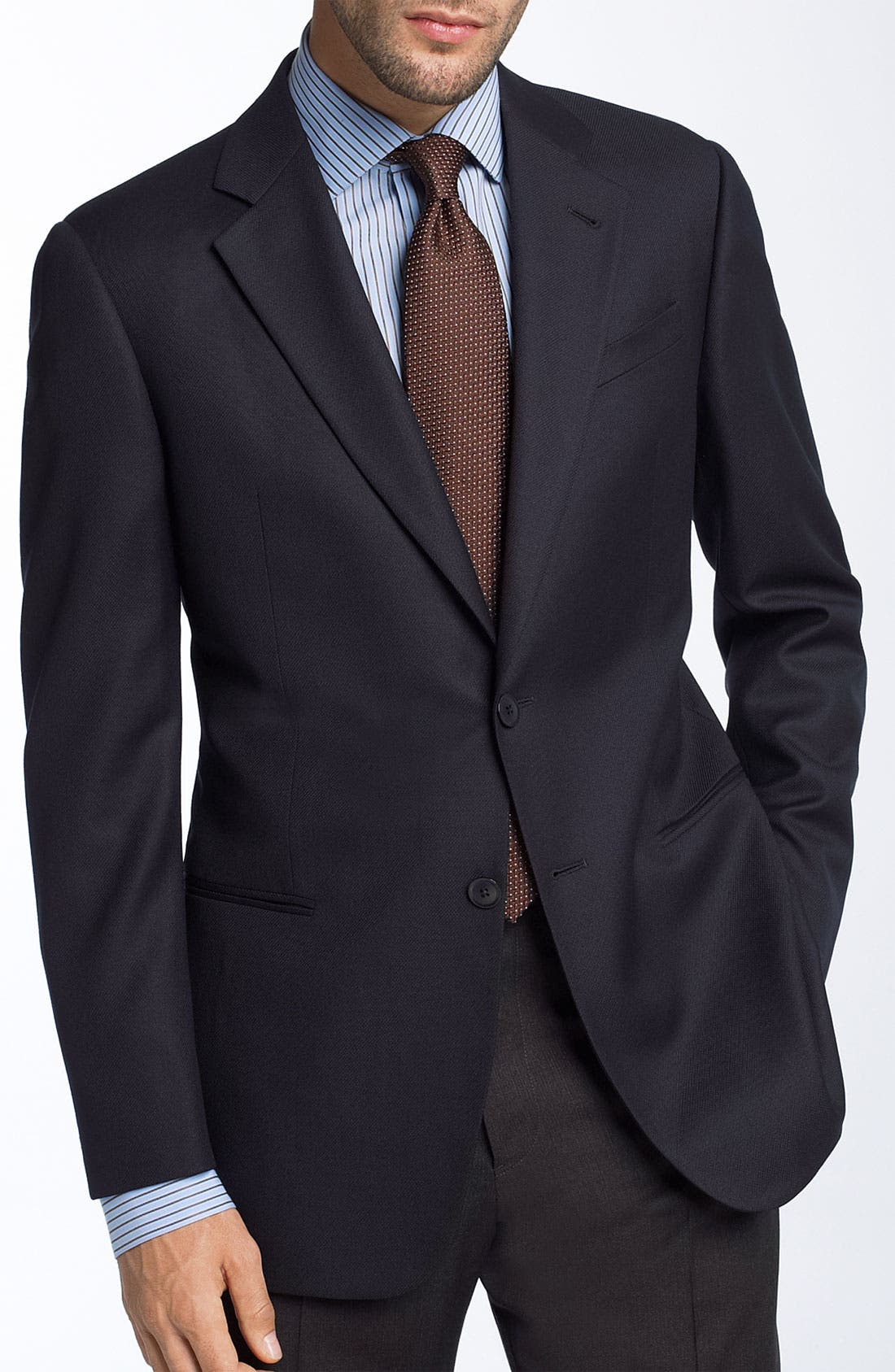 Alternate Image 1 Selected - Armani Collezioni Trim Fit Wool Blazer