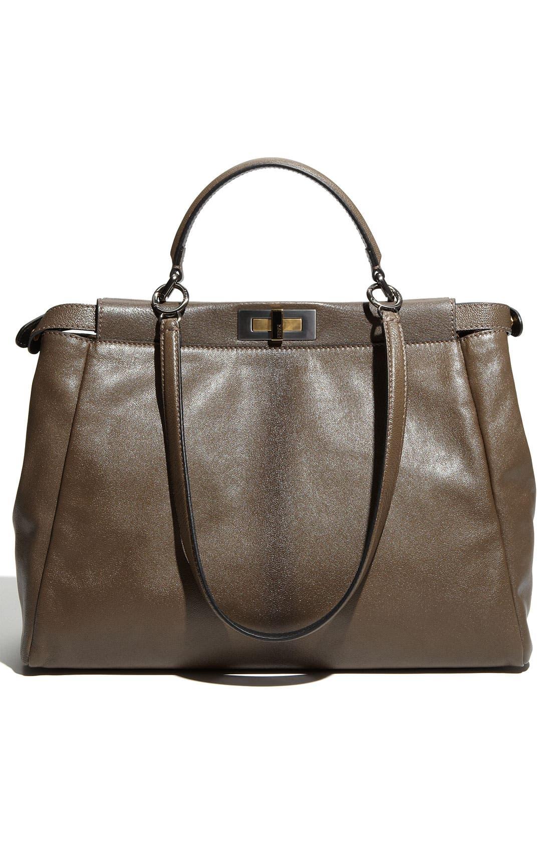 Alternate Image 4  - Fendi 'Peekaboo - Large' Leather Satchel