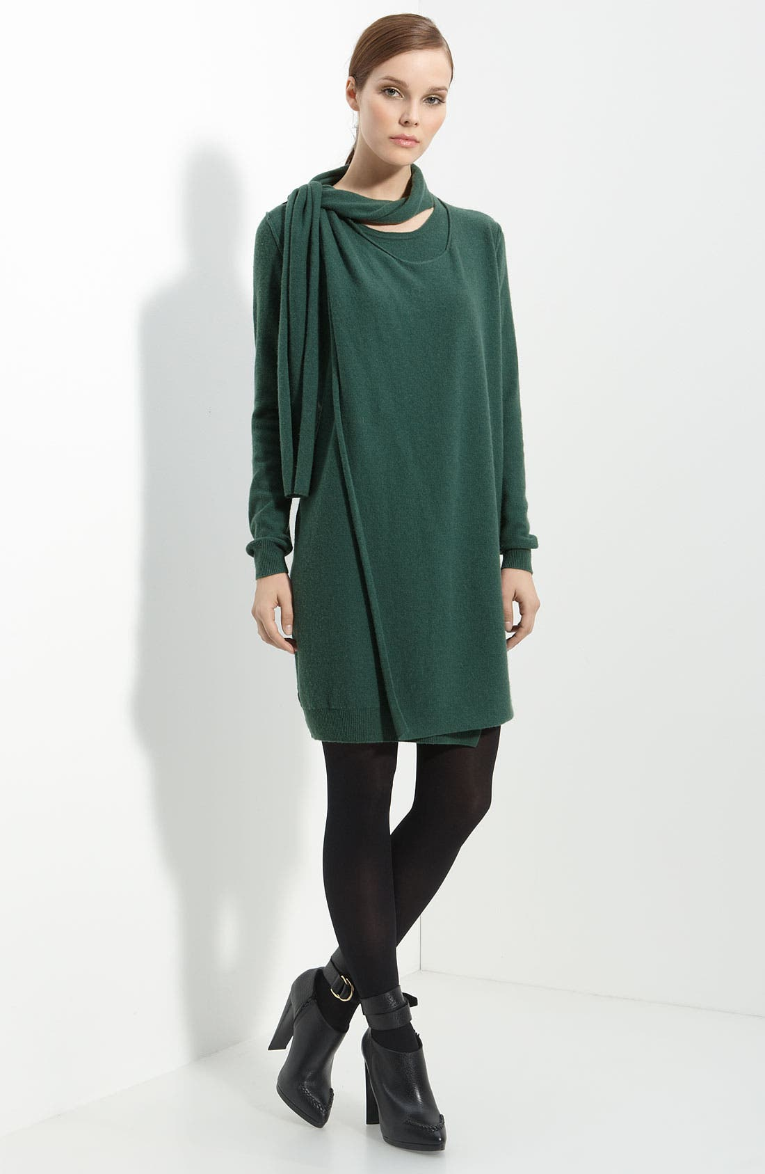 Main Image - 3.1 Phillip Lim Layered Cashmere Dress with Scarf