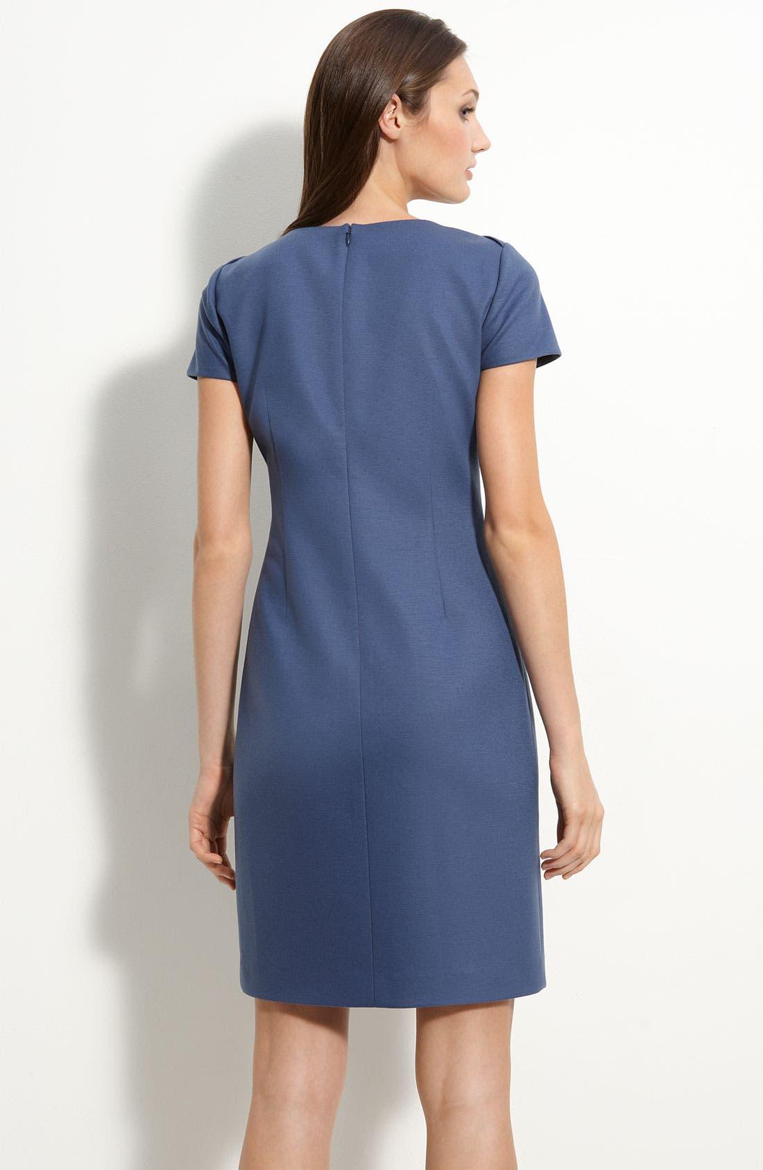 Alternate Image 2  - Elie Tahari 'Alexandria' Wool Blend Sheath Dress