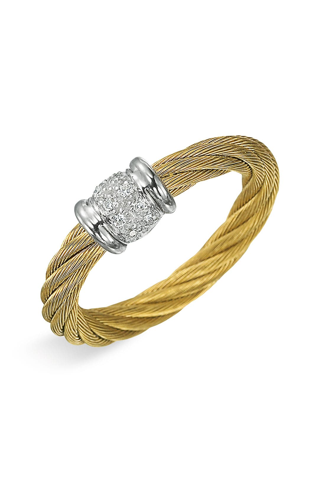Alternate Image 1 Selected - ALOR® Small Diamond Stackable Ring