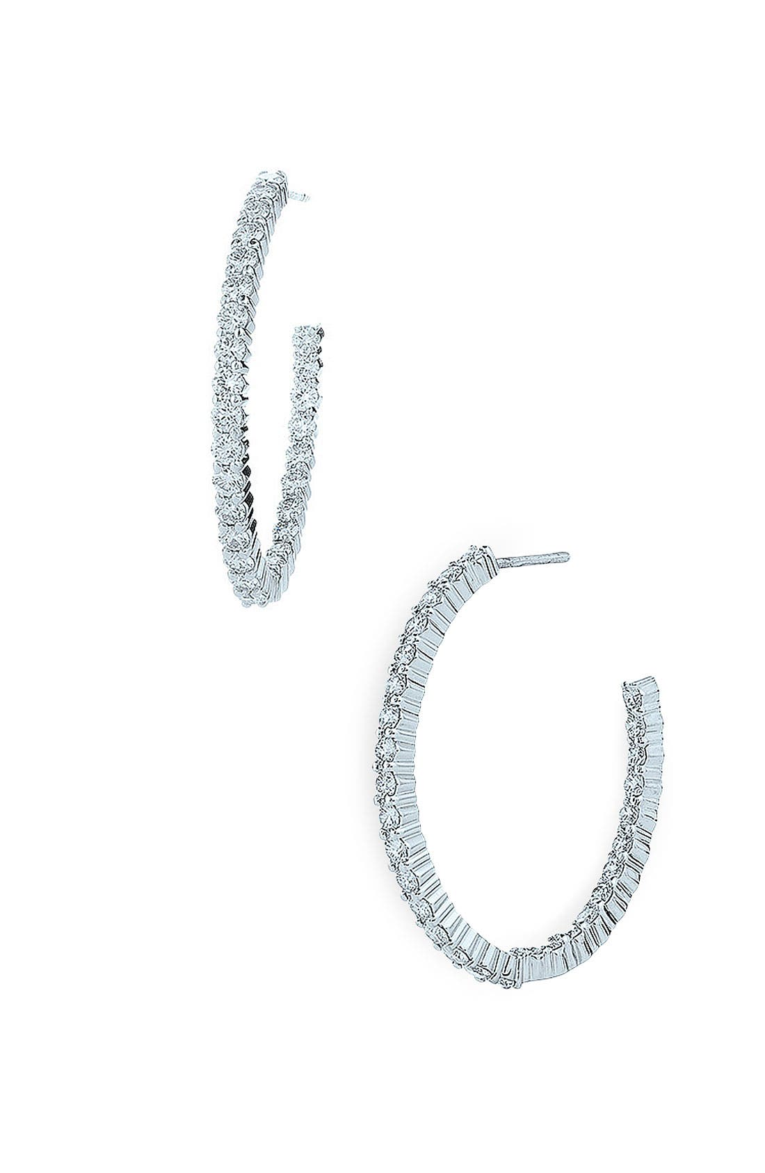 Alternate Image 1 Selected - Kwiat 'Inside Out' Diamond Hoop Earrings