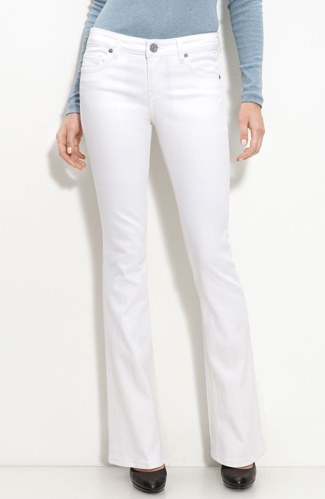 Alternate Image 2  - KUT from the Kloth Baby Bootcut Jeans (White Wash)