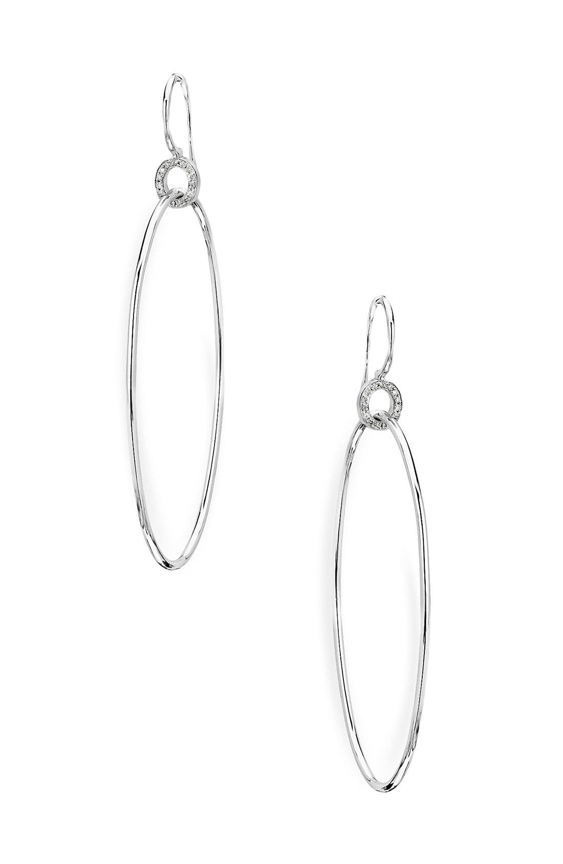 Alternate Image 1 Selected - Ivanka Trump Oval Diamond Drop Earrings