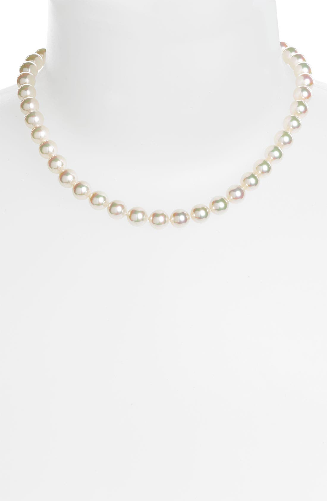 Main Image - Majorica 8mm Round Pearl Necklace