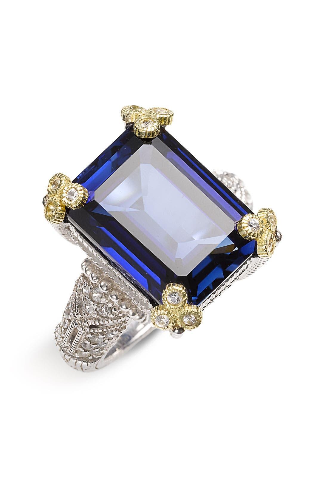 Alternate Image 1 Selected - Judith Ripka 'Estate' Emerald Cut Stone Ring