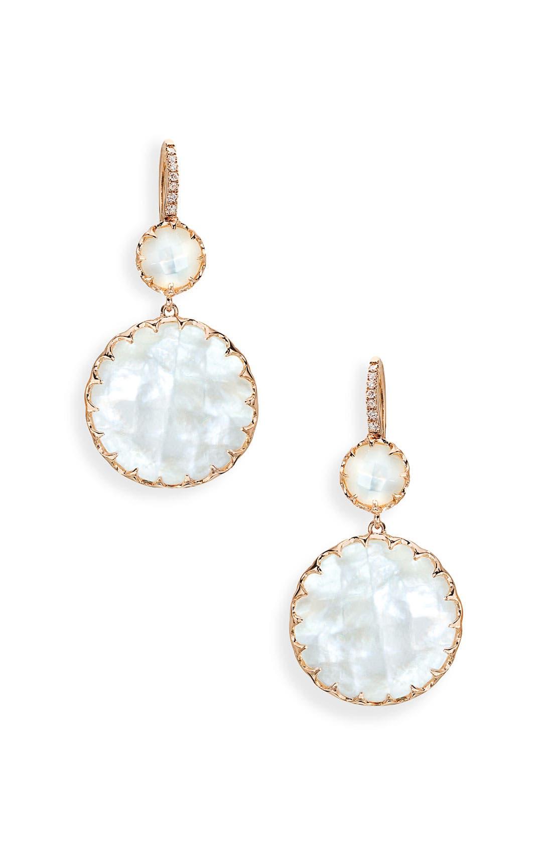 Main Image - Ivanka Trump 'Rose Gold' Stone & Diamond Earrings
