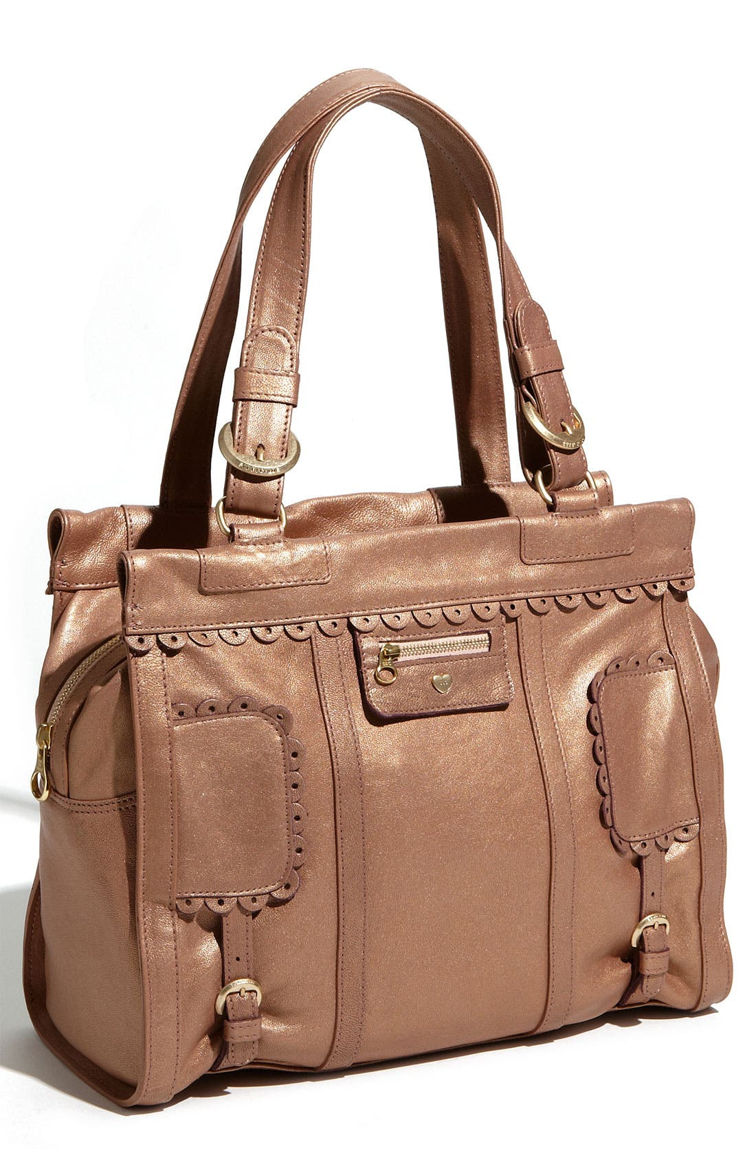 Main Image - See By Chloé 'Poya Metallic Vintage' Leather Shoulder Bag