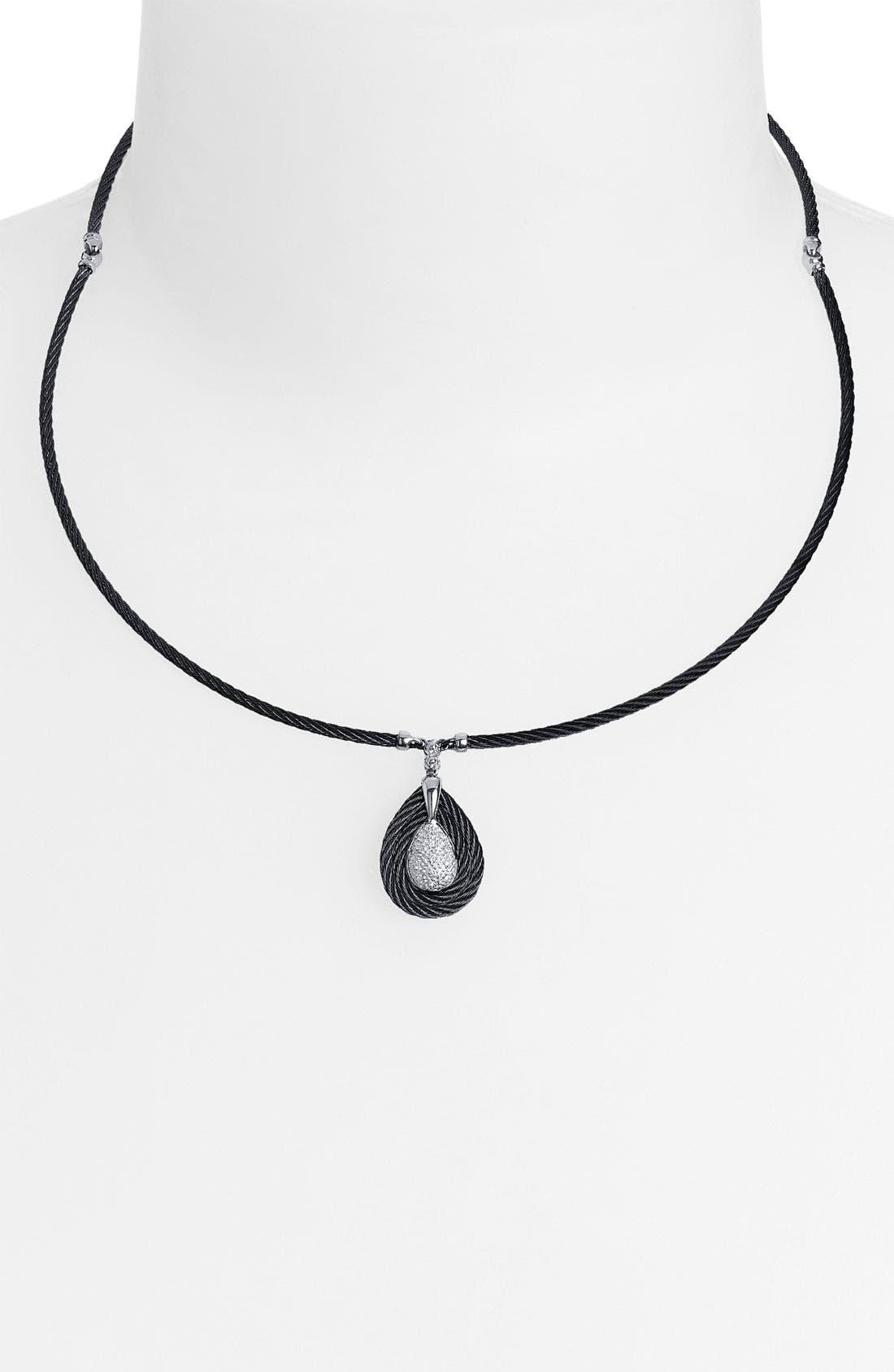 Alternate Image 1 Selected - ALOR® Diamond Pavé Drop Pendant Necklace