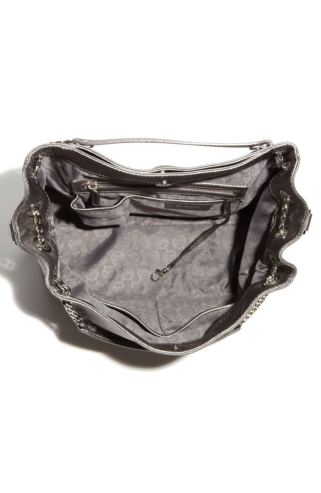 Alternate Image 3  - MICHAEL Michael Kors 'Jet Set - Large' Metallic Leather Shoulder Tote