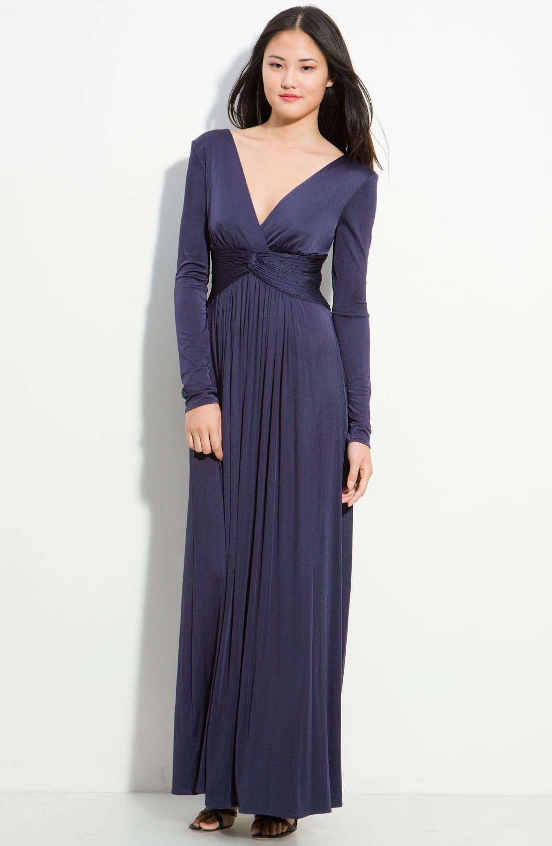 Main Image - BCBGMAXAZRIA Iridescent Jersey Gown