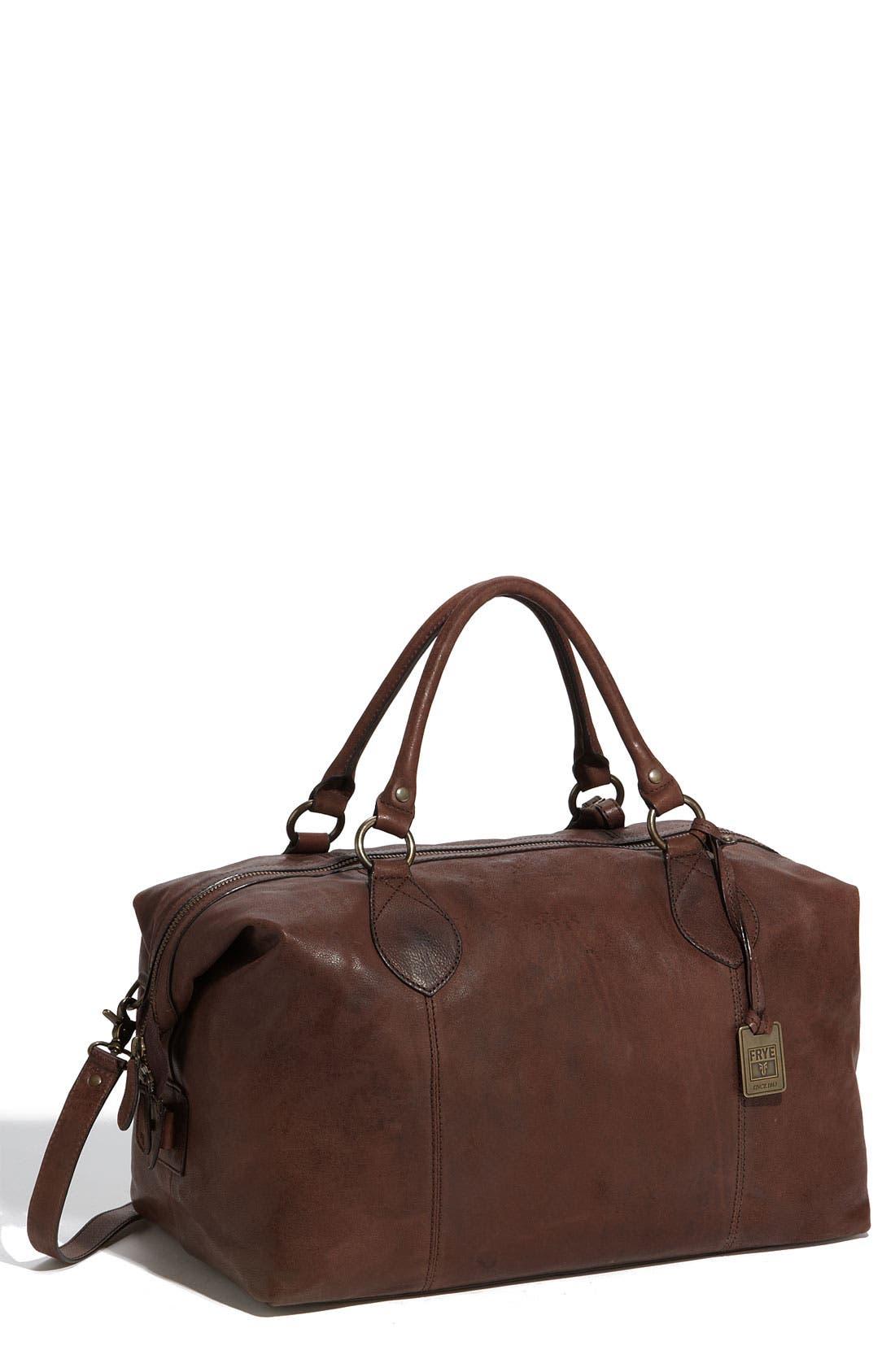 Main Image - Frye 'Logan' Leather Overnight Bag