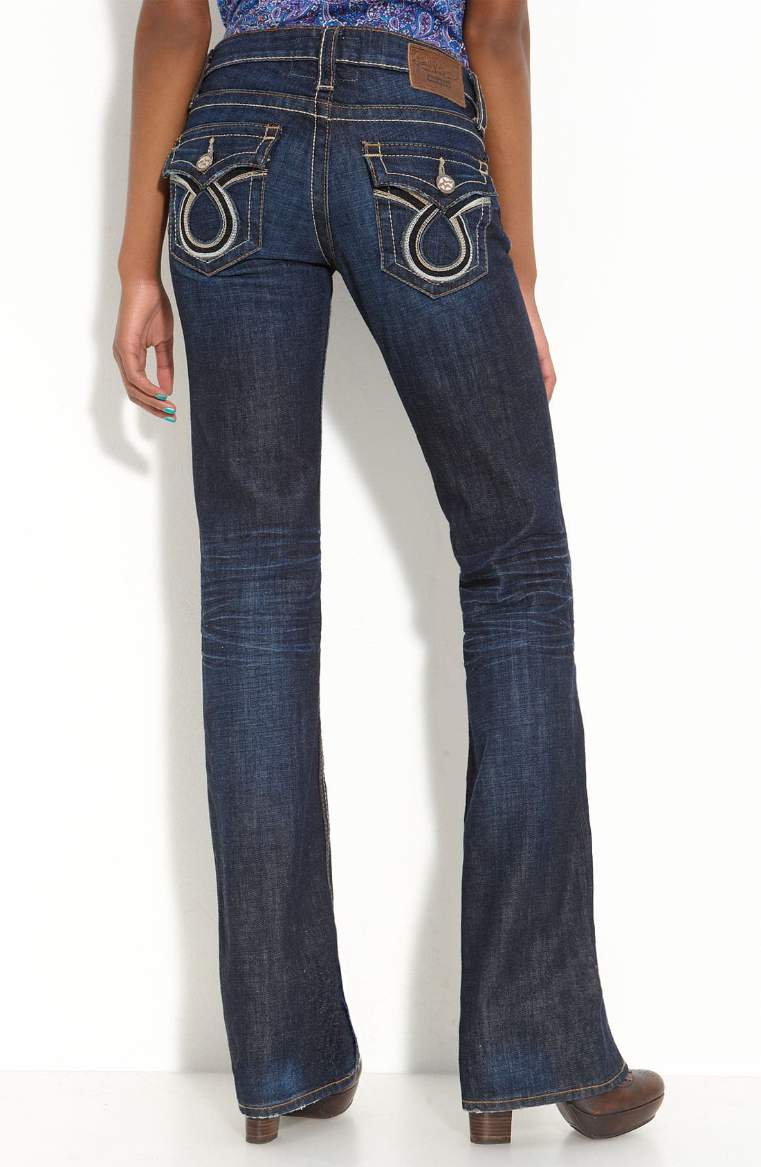 Alternate Image 2  - Big Star 'Liv' Flap Pocket Bootcut Jeans (Juniors Long)