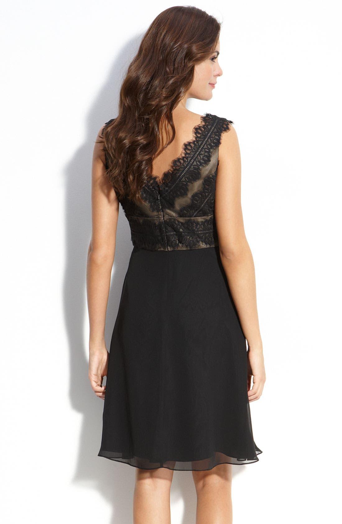 Alternate Image 2  - JS Collections Lace & Chiffon Sheath Dress (Petite)