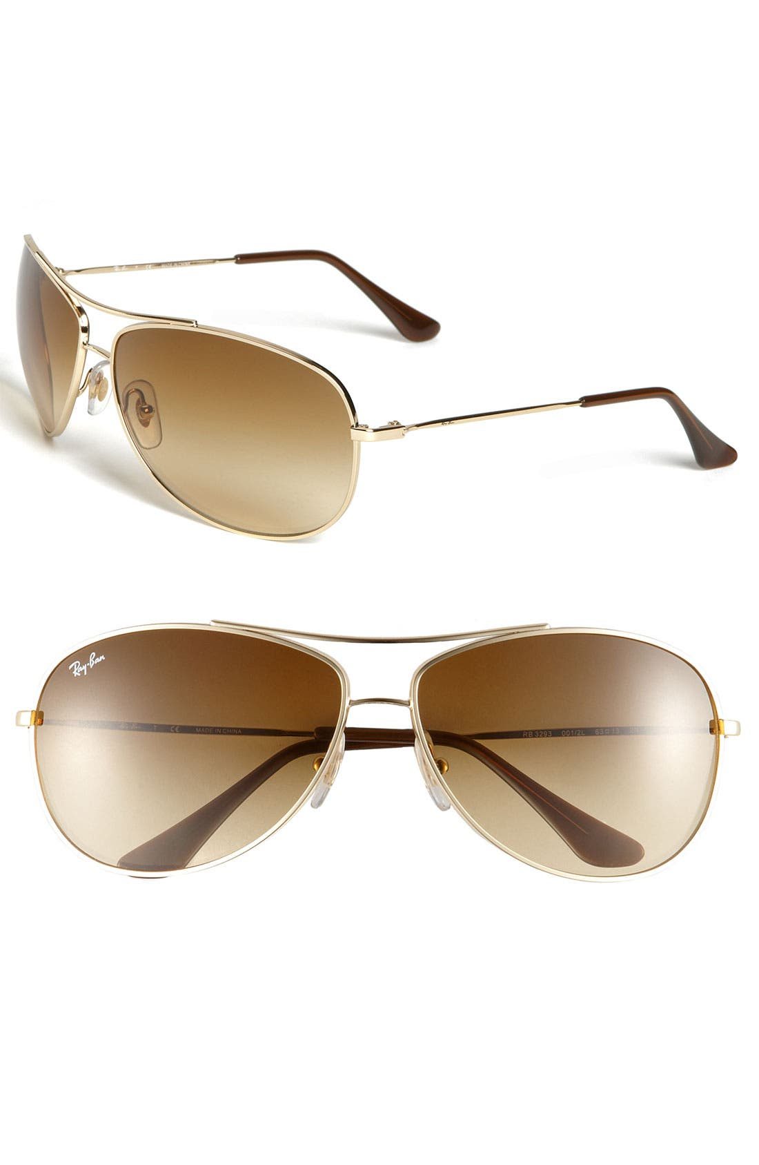 Alternate Image 1 Selected - Ray-Ban 'Bubble Wrap' Metal Aviator Sunglasses