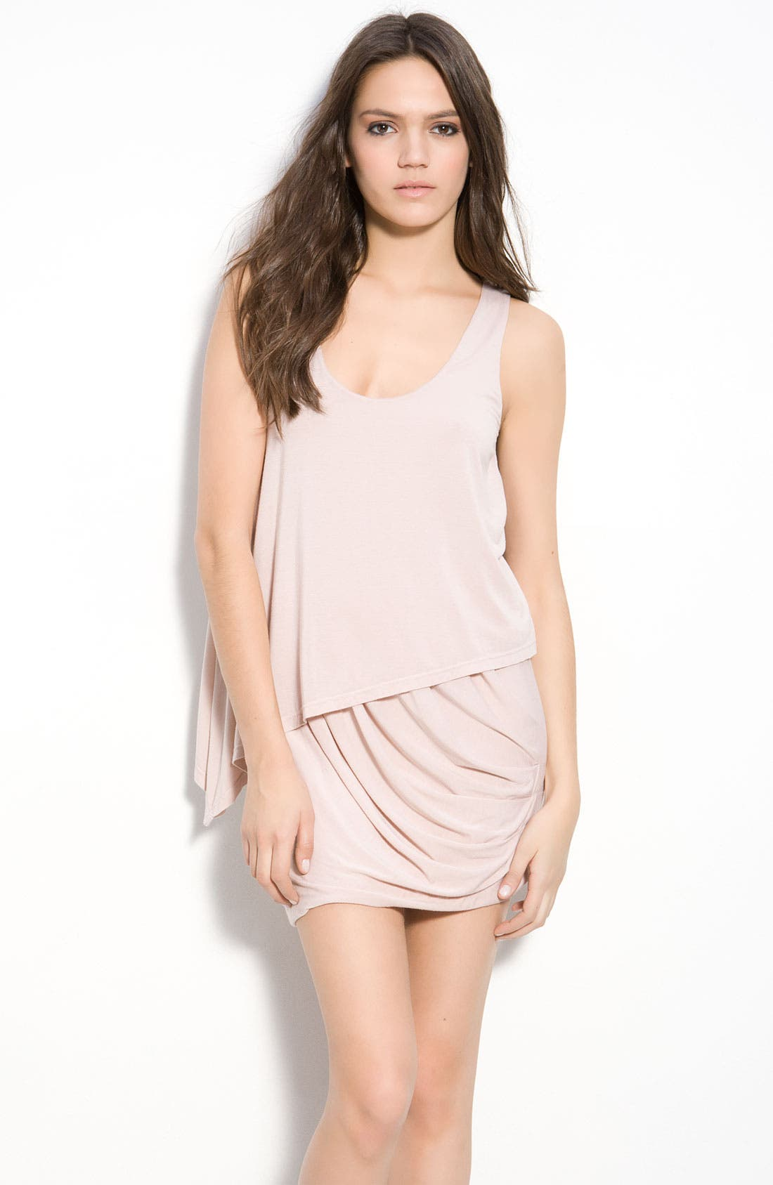 Alternate Image 1 Selected - Krisa Asymmetrical Layered Tank Dress