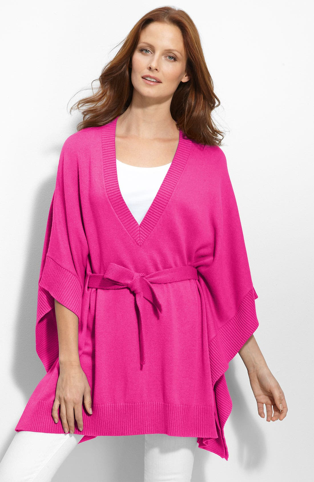 Alternate Image 1 Selected - MICHAEL Michael Kors V-Neck Poncho