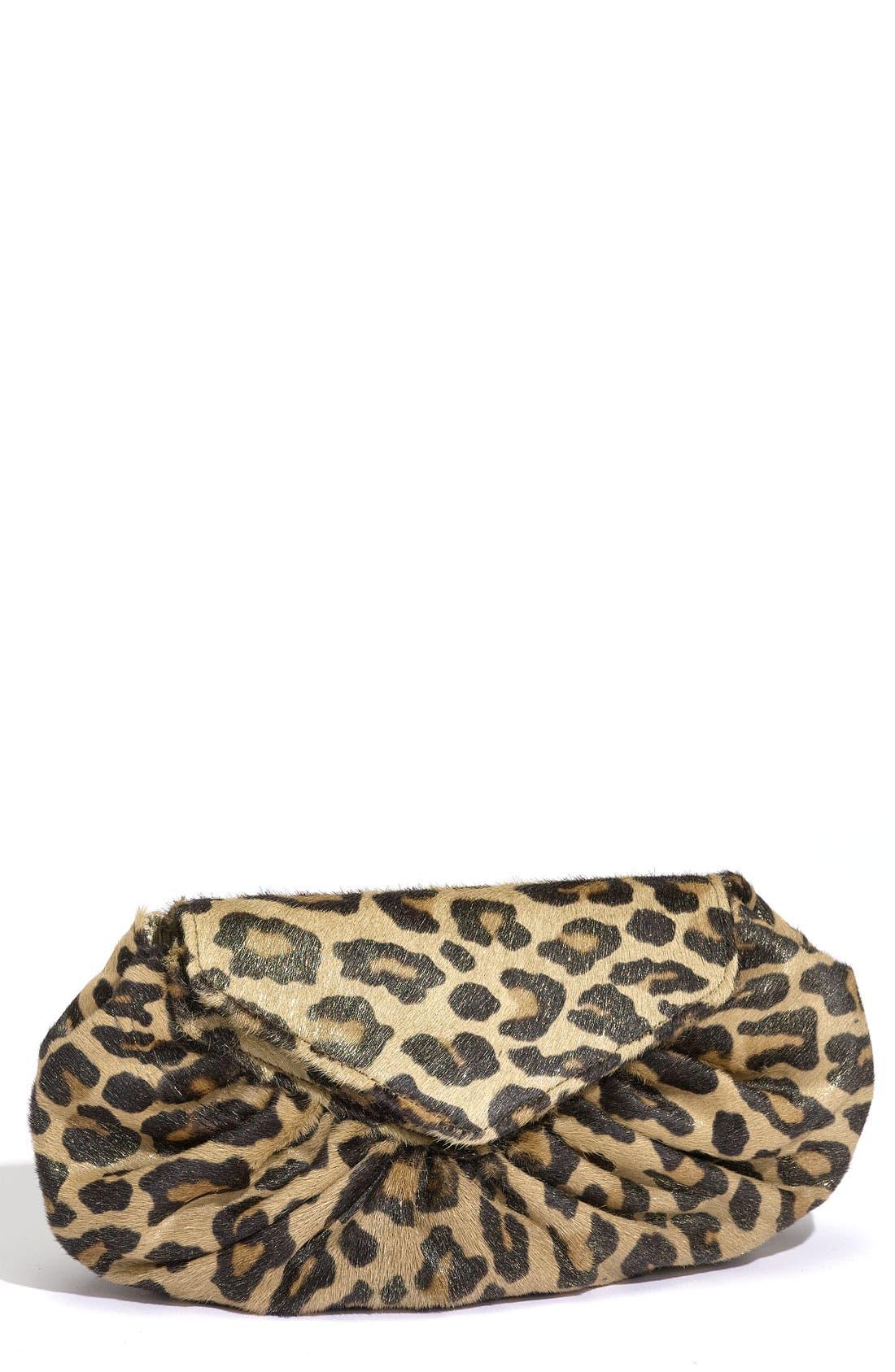 Alternate Image 1 Selected - Lauren Merkin 'Diana' Leopard Print Clutch