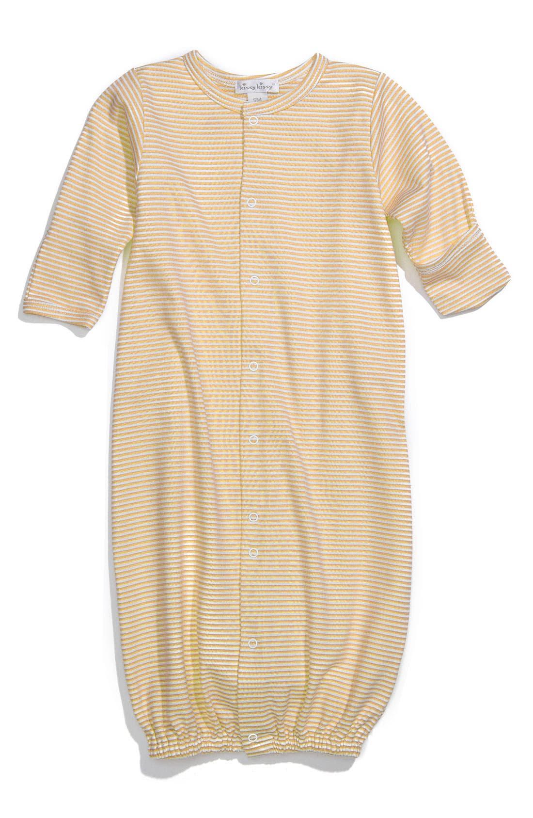 Main Image - Kissy Kissy Stripe Gown (Infant)