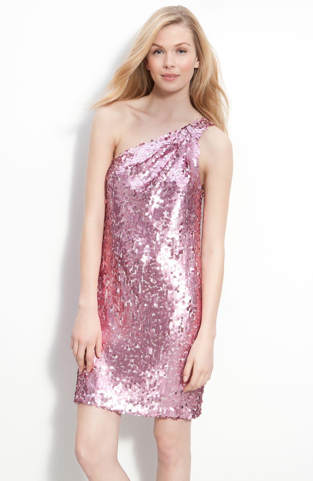 Alternate Image 1 Selected - Alexia Admor One Shoulder Sequin Dress
