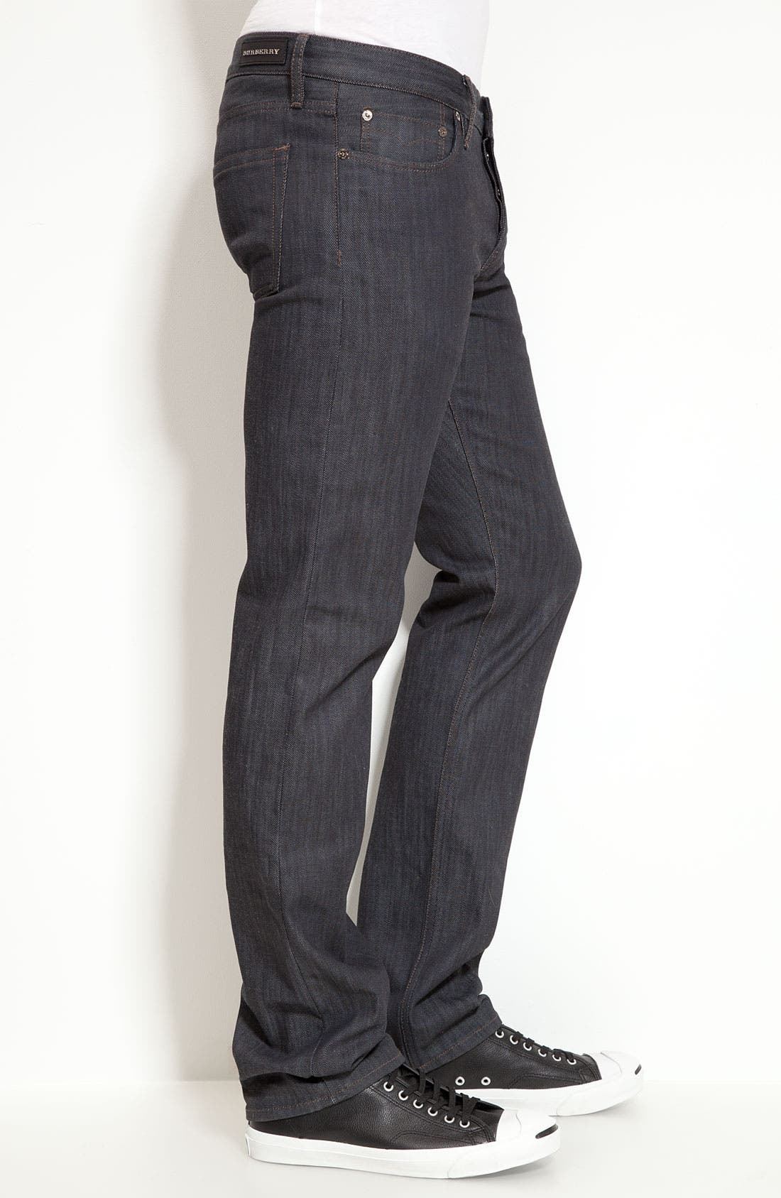 Alternate Image 3  - Burberry London Slim Leg Jeans (Navy Wash)
