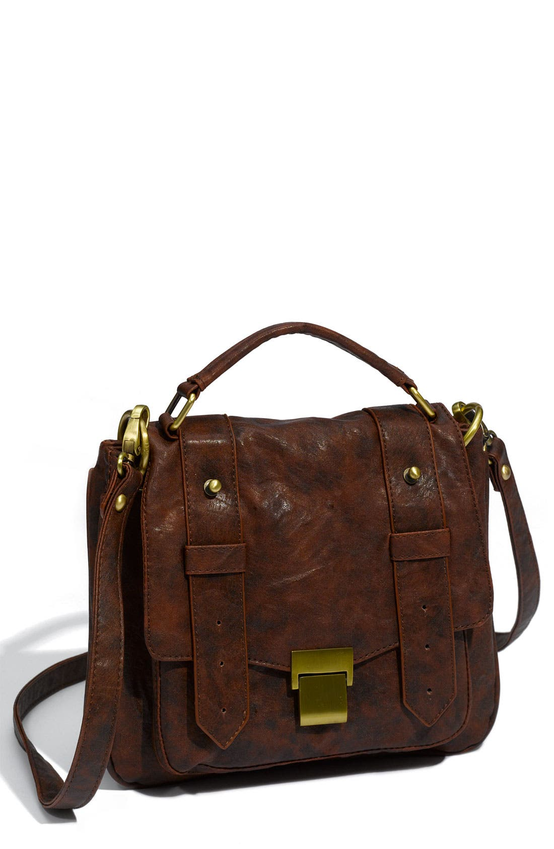 Alternate Image 1 Selected - Cesca Weathered Faux Leather Crossbody Satchel